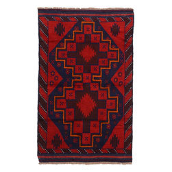 eSaleRugs - 3' 7 x 5' 8 Balouch Persian Rug - SKU: 22153531 - Hand Knotted Balouch rug. Made of 100% Wool. Brand New.