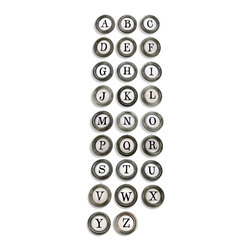 Aidan Gray - Aidan Gray Alphabet A To Z with Fillers D99 SET - Inspired from typewriter keys, easily translated onto your wall. Made with a rustic enamel and distressed by hand for an imperfect, time - worn look. Ships with 26 A to Z letters and 26 additional letters based on popularity.