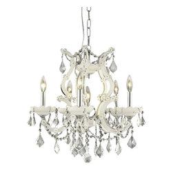 Elegant Lighting - Elegant Lighting 2800D20WH/RC Maria Theresa Collection Hanging Fixture - Elegant Lighting 2800D20WH/RC Maria Theresa Collection Hanging Fixture
