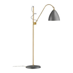 """BestLite - BestLite BL3M Floor Lamp - Product Details: The BL3M floor lamp by Bestlite was designed by Robert Dudley Best. Designed in the late 1920's the lamp was the first to be declared an Bauhaus inspired piece in the UK. Its clean lines the style have endured the test of time. This classic floor lamp comes in four brass color combinations. The lamp features an adjustable height allowing for flexiblity within a space.          Product Details: The BL3M floor lamp by Bestlite was designed by Robert Dudley Best. Designed in the late 1920's the lamp was the first to be declared an Bauhaus inspired piece in the UK. Its clean lines the style have endured the test of time. This classic floor lamp comes in four brass color combinations. The lamp features an adjustable height allowing for flexiblity within a space. Details:                         Manufacturer:            Bestlite                            Designer:            Robert Best                            Made in:            Denmark                            Dimensions:            Height: 44.5""""-59.8"""" (113-152cm) x Base Diameter:11""""(28cm) x Shade Diameter 11' (28cm) x Length of arm: 8.26""""(21 cm)                            Light bulb:            Max 40w E12 base (not included)                            Material:            metal"""