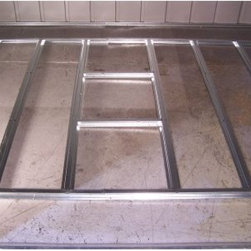 Arrow Floor Frame Kit For 4 x 7 or 10 ft. Sheds - The Arrow Floor Frame Kit For 4 x 7 or 10 ft. Sheds provides a simple and level surface for flooring. Crafted from durable hot-dipped galvanized steel, this easy-to-assemble floor kit makes a simple solution for building on dirt, gravel or grass. The slotted floor beams fit directly into the frame of your shed, providing an ideal framework you could finish with plywood for a smooth, aesthetically pleasing floor surface. This floor frame kit fits Arrow storage sheds 4 x 7 or 4 x 10 feet.About Arrow ShedsEstablished in 1962 as Arrow Group Industries, Arrow Sheds is now the worldwide leader in designing, manufacturing, and distributing steel storage sheds that are easily assembled from a kit. Arrow Sheds hasn't garnered its 12 million customers by resting on its laurels either. The company takes great pride in having listened to their customers over the years to develop quality products that meet people's storage needs. From athletic equipment to holiday decorations, from tools to recreational vehicles, Arrow Sheds prides itself on providing quality USA-built structures that offer storage solutions. Available in a wide variety of sizes, models, finishes, and colors - Arrow's sheds are constructed with electro-galvanized steel to be more affordable, durable, attractive, and easy to assemble.