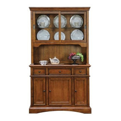 Winners Only - Buffet in Oak Finish - Includes only buffet. Hutch is optionalBuffet:. Three drawers. Three doors. 48 in. W x 18 in. D x 36 in. HHutch:. Two enclosed shelves. 48 in. W x 13 in. D x 44 in. H