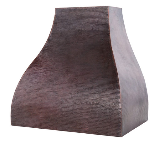 "Premier Copper Products - Premier Copper Products 36"" 735 CFM Copper Campana Range Hood w/ Screen Filters - Premier Copper Products HV-CAMPANA36-C2036BP 36"" 735 CFM Hand Hammered Copper Wall Mounted Campana Range Hood with Screen Filters"