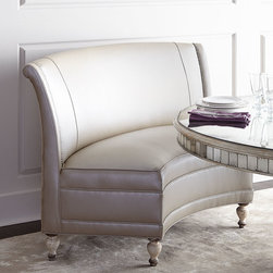 """Old Hickory Tannery - Patrice Banquette - IVORY/TAUPE - Old Hickory TanneryPatrice BanquetteDetailsFrom Old Hickory Tannery .Hardwood frame with hand-painted finish.Leather upholstery; rayon/cotton back.61""""W x 32.5""""D x 39.5""""T; seat 18""""D x 20""""T.Handcrafted in the USA.Boxed weight approximately 110 lbs. Please note that this item may require additional delivery and processing charges.Designer About Old Hickory TanneryFounded more than 30 years ago Old Hickory Tannery is still family owned and operated in Hickory North Carolina. Although the company's name reflects its original focus on fine leather upholstery Old Hickory is now equally well know for fabric-covered seating. Its range of styles is impressive from dramatic Duncan-Phyfe-style sofas to graceful Queen Anne armchairs claw-footed tub chairs feminine full-skirted settees and sleek slipper chairs. Old Hickory's craftsmen bring an abundance of expertise to their work; some have been making furniture for almost half a century. All upholstery is cut and sewn entirely by hand all frames are solid hardwood nailhead trim is hand-hammered and all springs are hand-tied to the frame and surrounding springs at eight points for lasting comfort and stability. These are just a few of the reasons why this American furniture maker is one of our favorites."""