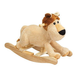 """Fifthroom - Plush Leonard Lion Rocker - Your toddler will roar with delight, when Leonard """"ROARS"""".  His adorable face and soft cover make Leonard the perfect jungle pal."""