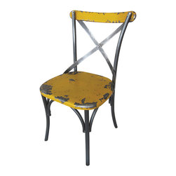 Moe's Home Collection - Moe's Home Bali Dining Chair in Yellow (Set of 2) - Colorful dining chair made with MDF and metal