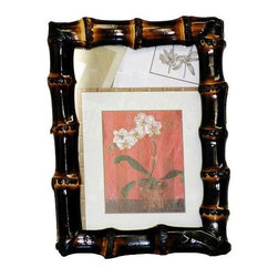 Bamboo54 - Burnt Bamboo Root Frame (8 in. L x 10 in. W) - Choose Size: 8 in. L x 10 in. WGlass top. Bamboo root. Color/Finish: Burnt. Picture: 4 in. L x 6 in. W. Actual picture viewable: 3.5 in. L x 5.5 in. W. Frame: 5.5 in. L x 7.5 in. W. Picture: 5 in. L x 7 in. W. Actual picture viewable: 4.5 in. L x 6.5 in. W. Frame: 6 in. L x 8 in. W. Picture: 8 in. L x 10 in. W. Actual picture viewable: 7.25 in. L x 9.5 in. W. Frame: 9 in. L x 11 in. W