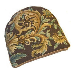 "EuroLux Home - New 18""x20"" Chair Cushion Floral Gold - Product Details"