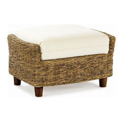 Wicker Paradise - Seagrass Ottoman - Tangiers - Who doesn't like to put their feet up after a long day? The Tangiers ottoman works with our other Tangiers pieces to add that extra comfort you deserve. Well constructed with woven seagrass on a hardwood frame. Please note the ottoman cushion no longer has any piping!
