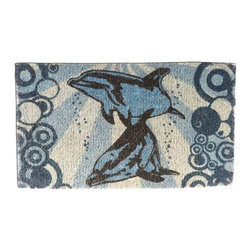 "CocoMatsNMore - CocoMatsNMore Dolphins Underwater Design Coco Doormats - 18"" X 30"" - Eco-friendly Coco Mat are hand-woven and  made from 100% natural coir . These coco doormats are designed to last for a long time and are easy to maintain and clean by either shaking or hosing it down. Designed with fade-resistant dyes they are durable enough to withstand the harshness of weather and look good througout the year. Furthermore, they keep your house clean by doing a fabulous job of trapping the dirt, mud and debris right at the doorstep."