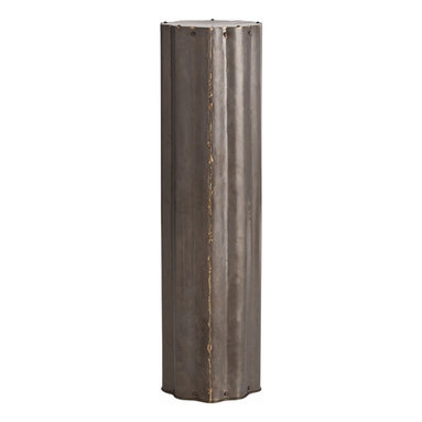 Arteriors - Zeb Pedestal - If you have a lovely fern that needs a home, take a look at this stately fluted pedestal. Made from natural iron with contrasting brass welds, this pedestal has a strong, industrial sense of purpose. Of course, if you've always wanted to be put on a pedestal, here's your shot.
