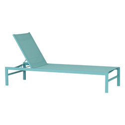 Idle Aqua Sun Lounger - This colorful chaise would look great in a set. And it's perfect for toasting my back on long summer afternoons.