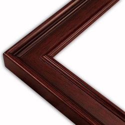 The Frame Guys - Classic Mahogany Picture Frame-Solid Wood, 6x6 - *Classic Mahogany Picture Frame-Solid Wood, 6x6