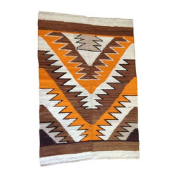 Brown & Orange Zig Zag Rug - Can you say amazing? This rug is the bees-knees. On-trend zig-zag motif in a bold orange and brown palette. Soft and cozy and oh so cool.