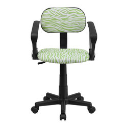Flash Furniture - Flash Furniture Accent Chair X-GG-A-NG-Z-TB - This attractive design printed office chair will liven up your classroom, dorm room, home office or child's bedroom. If you're ready to step out of the ordinary then this computer chair is for you! [BT-Z-GN-A-GG]