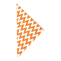 """Pine Cone Hill - PCH Chevron Tangerine Napkin Set of 4 - PCH delivers simple style to the dining table with Chevron cloth napkins. Layer this classic zig zag pattern in tangerine orange and white with table linens in other patterns and colors to create a range of contemporary looks. 22"""" Square; Set of 4; 50% cotton, 50% linen; Designed by Pine Cone Hill, an Annie Selke company; Machine wash, tumble dry low"""