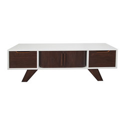 Atomic Living Design - Atomic Living Design - Palm Springs Console/Sideboard 5 Foot - Inspired by the iconic playground of 1950's Hollywood, The Palm Springs series offers reflections of the heat, glowing sun and desert earth of a historic mid-century modern retreat. Dark solid walnut, walnut tambour, very low VOC water-based gloss lacquer, eco-friendly MDF, and soft-close drawer slides complete this desert-modern design.