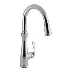 KOHLER - KOHLER K-560-CP Bellera Pull-down Kitchen Faucet in Polished Chrome - KOHLER K-560-CP Bellera Pull-Down Kitchen Faucet in Polished Chrome