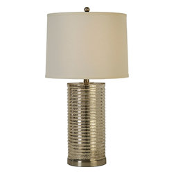 Trend Lighting - Arctica Table Lamp, Crackle Silver Glass - -120 Volts