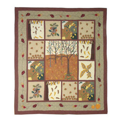 Patch Quilts - Forest Wonderland Quilt Queen 85 x 95 - - Intricately appliqued and beautifully hand quilted.Bedding ensemble from Patch Magic  - The Name for the finest quality quilts and accessories  - Machine washable.Line or Flat dry only Patch Quilts - QQFWON