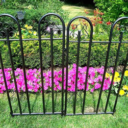 Oakland Living - Set of Two Garden Fence Sections in Hammer To - Hammer Tone Bronze finish. Tubular steel construction. Easy assembly and sturdy construction. Hardened powder coat finish in hammer tone bronze for years of beauty. Stainless steel / brass hardware