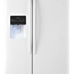 Amana - ASD2575BRW 25.5 cu. ft. Side-by-Side Refrigerator With Temp Assure Freshness Con - You39ll have plenty of room for both chilling and freezing in this Amana 255 cu ft ENERGY STAR qualified side-by-side refrigerator The freezer door has an ice and water dispenser with a PUR water filtration system This unit has three Spillsaver glass...