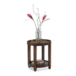 Bassett Mirror - Modular Mates Tray Top End Table - Mahogany veneers and select hardwoods. Measures: 22 in. Round x 25 in. H. Part of the Modular Mates Collection.