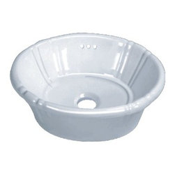 "TCS Home Supplies - Porcelain Ceramic Vanity Drop in Bathroom Vessel Sink - 17-3/4 x 14-3/8 x 7 Inch - This stylish drop-in sink blends nicely in a traditional or contemporary setting. Dimensions 17-3/4"" x 14-3/8"" x 7""."