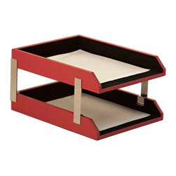 Dacasso Limited Inc - Dacasso Double Red Leather Letter Trays with Stacking Posts - A7422 - Shop for Desk and Drawer Organizers from Hayneedle.com! About Dacasso Limited Inc.Located in Gainesville Florida Dacasso offers quality desk sets and unbeatable customer service. Dacasso manufactures leather and wood desk accessories and their product line ranges from complete leather desk sets that perfectly present a professional look to leather calendar holders that provide organization for day-to-day responsibilities. A company that believes in its products and service Dacasso guarantees your satisfaction.