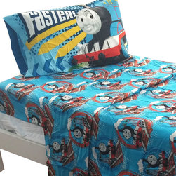 Jay Franco and Sons - Thomas Train Twin Sheet Set Tank Engine Faster Bedding - Features: