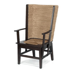 Orkney Chair With Woven Seat - This reproduction Orkney chair has all the charm of an antique, with its hand woven straw back and seat.