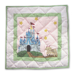 Patch Quilts - Fairy Tale Princess Toss Pillow 16 x 16 Inch - Decorative applique Quilted Pillow Bed and Home Ensembles and Bedding items from Patch Magic   - Machine washable  - Line or Flat dry only Patch Quilts - TPFAIP