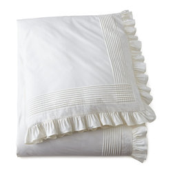 """Pine Cone Hill - Twin Louisa Duvet Cover 68"""" x 88"""" - WHITE - Pine Cone HillTwin Louisa Duvet Cover 68"""" x 88""""Designer About Pine Cone Hill:Pine Cone Hill designed by Annie Selke is a collection of bed linens with Selke's signature charming prints and patterns. The designer began making her Pine Cone Hill linens with a sewing machine on her dining room table. Today the collection has fans across the country who love the line's easy sophistication."""