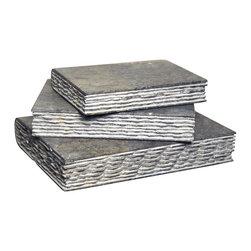 NOIR - Noir Furniture Stone Books In Black Marble, Set Of 3 - NOIR Furniture - Stone Books in Black Marble (Set of 3) - AM-78BM
