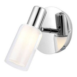 Eglo - Eglo Mauricio 1-Light Chrome Wall Sconce 90723A - Shop for Lighting & Fans at The Home Depot. The Mauricio 1-Light Chrome Wall Sconce features a striking chrome finish that can help give your home a decorative accent. The light can pivot 180 degrees for your convenience. It comes with an on/off switch for convenience.