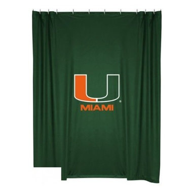 Sports Coverage - Miami University Shower Curtain - This 72 x 72 officially licensed Miami University shower curtain of jersey material with logo is perfect for any bathroom in need of a little extra team spirit. It weighs approximately one pound and is screen printed with Plastisol. Shower Curtain is 100% Polyester Jersey
