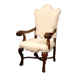 Consigned 18th C. Italian Chair - This rare, Italian walnut chair really belongs in a museum. But if you move quickly it can be in your home in a matter of hours. Where shall you place it? How about anywhere it wants to be for it will be a showstopper no matter where you put it.
