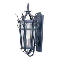 Maxim Lighting - Maxim Lighting 30042CDCF Cathedral Country Forge Outdoor Wall Sconce - 3 Bulbs, Bulb Type: 60 Watt Incandescent