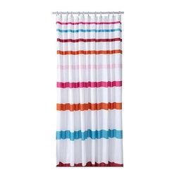 Emma Jones - BREDGRUND Shower curtain - Shower curtain, wide stripe multicolor