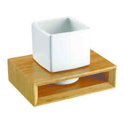 Croydex - Kingston Tumbler & Holder - WA681876YW - Manufacturer SKU: WA681876YW. Solid Oak Wood. Concealed Screws. Easy to Install. All Screws Included. 5.91 in. W x 4.33 in. L x 4.13 in. HThe Kingston range of wall mounted accessories are made of sturdy solid oak with complementary ceramic accessories and a distinctive square, chunky design, which is just right for today's modern bathroom.