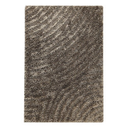 """MAT Orange Tweed Grey Rug - 5'2""""x7'6"""" - The rugs in this collection are all inspired by urban lanandscapes, making way for a statement where texture, shape, and line are the form. The rug's texture and the marriage of colors speak to the contemporary room. """"It is the art piece on the floor.  Because of the artistic quality ofThe rugs they are easily used in modern as well as traditional interiors. Pile Height:1.  Inches"""