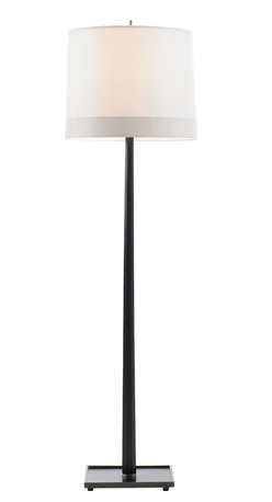 Octagon Floor Lamp - An elegant floor lamp is a great way to add flexible lighting to almost any room. Choose a classic design of rich walnut wood and a chic silk shade and you'll quickly light up any corner. All you need now is a cozy chair and a good book.