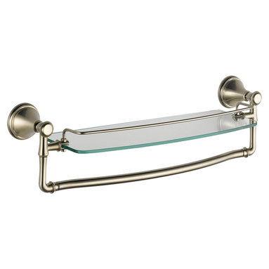 """Delta - Delta 79710-SS Cassidy 18"""" Glass Shelf (Stainless Steel) - Delta 79710-SS Cassidy 18"""" Glass Shelf (Stainless Steel). The Delta 79710-SS is part of the Cassidy Series. This glass shelf and towel bar combination features an 18"""" width, a classic Stainless Steel finish, and it comes with all of the necessary mounting hardware."""