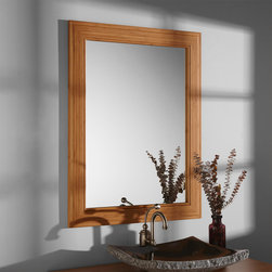 """28"""" Portola Bamboo Vanity Mirror - Get ahead of the trend with the 28"""" Portola Vanity Mirror, made of eco-friendly bamboo, an extremely strong and easily replenished earth-friendly material."""