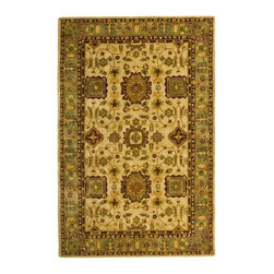 """Safavieh - Traditional Taj Mahal 5'6""""x8'6"""" Rectangle Ivory - Green Area Rug - The Taj Mahal area rug Collection offers an affordable assortment of Traditional stylings. Taj Mahal features a blend of natural Ivory - Green color. Hand Tufted of Wool the Taj Mahal Collection is an intriguing compliment to any decor."""
