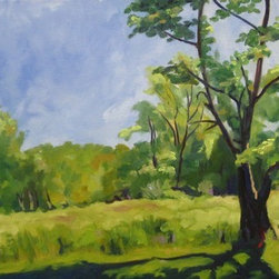 Possum Creek Park (Original) by Katrina West - This is a plein air piece that was done on a lovely late spring day in Possum Creek Metro Park near Dayton, OH.  I was painting with my friend from Herron Art school whom I rarely see.  Since this auspicious occasion we try to get together at least once or twice a year to egg each other on.