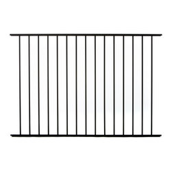 Specrail - Specrail Cheshire Aluminum Fence 2-Rail Panel - 4 ft. Multicolor - RR9482BL - Shop for Fencing and Fencing Materials from Hayneedle.com! Enclose your pool or define your property lines with the beautiful and elegant Specrail Cheshire Aluminum Fence 2-Rail Panel - 4 ft.. Crafted from high quality aluminum that s designed to look like wrought iron but will not rust and is maintenance free which means you don t need to worry about painting or staining. Designed to be used with the DIY Fence System Universal Post and can be used with either the Asbury 482 Arched or Walk Gate. Easy to install this fence meets BOCA pool code requirements in most areas.Additional FeaturesUse with DIY Fence System Universal PostCan be used with the Asbury 482 Arched or Walk GateNot advisable to mix and match fencing brandsDefine your property lines or enclose a poolMeets BOCA pool code requirements in most areasGives you the beauty of traditional wrought ironEasy to installAbout SPECRAILSPECRAIL has been designing aluminum products of the highest quality for over 50 years. They offer the widest selection of any ornamental aluminum fencing company and their extraordinary line includes 11 styles 4 grades and 5 colors. SPECRAIL brings beauty strength and a traditional wrought iron look to their maintenance-free aluminum fencing. Every piece they manufacture represents their strong commitment to meeting the needs of their customers and their dedication to quality.