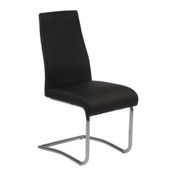 Eurostyle - Eurostyle Rooney Low Back Side Chair in Black Leatherette [Set of 2] - Low Back Side Chair in Black Leatherette belongs to Rooney Collection by Eurostyle Even though it's made for sitting, the Rooney chair is a standout! Incredibly comfortable leatherette over foam, this armless dining chair is perfect around the table, especially when you want room for everybody! Side Chair (2)