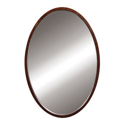 Decolav - Decolav Lola Walnut Wall Mirror - DECOLAV's Lola Oval Wall Mirror is space efficient and is perfect for small bathrooms. The vertically mounted oval mirror is available in various finishes making this collection ideal for any style bathroom decor.