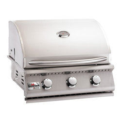 "Summerset Grills - 26"" Sizzler Stainless Steel Propane Gas Grill - #443 Stainless Steel Construction"